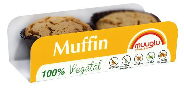 Muffin Muuglu. Packs 2 unidades. 120 gr