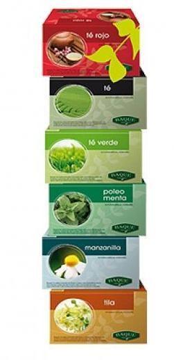 Té e Infusiones. Té Verde, Té Rojo, Poleo Menta, Manzanilla, Tila