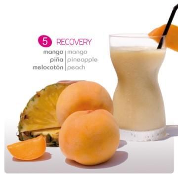 Smoothie yogur Recovery. De mango, piña y melotocon