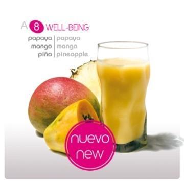 Smoothie yogur Well-Being. De papaya, mango y piña