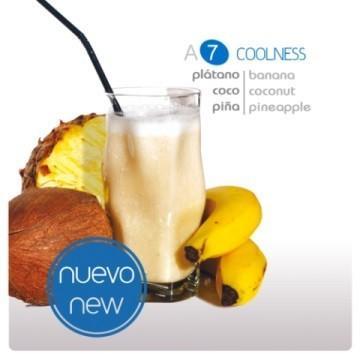 Smoothie yogur Coolness. De plátano, coco y piña