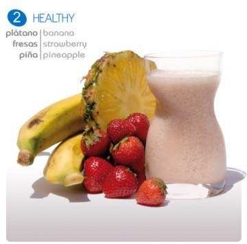 Smoothie yogur Healthy. De plátanos, fresas y piña