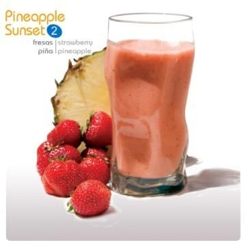 Smoothie 100% fruta Pineapple Sunset. De fresas y piña