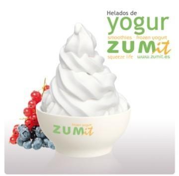 Helado de yogur soff. Helado de yogur soft, frescos y deliciosos