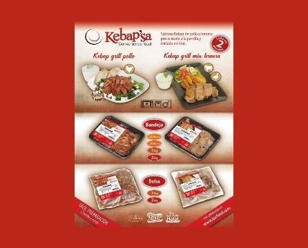 Carne Kebap. Variedad de productos