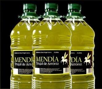 Aceite de Oliva. Vigen, elaborado a partir de aceitunas de primera.