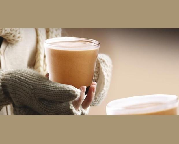 Crema de café. Café caliente cremoso