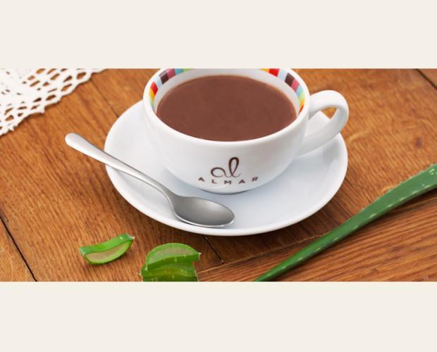 Chocolate a la taza con aloe vera. Placer y salud se unen en el aroma de un chocolate