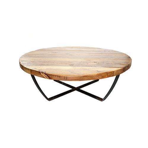 Isabella. Mesa de centro baja con estructura de hierro y tapa de madera.Podemos fabricarla a medida. Pídanos presupuesto sin compromiso.