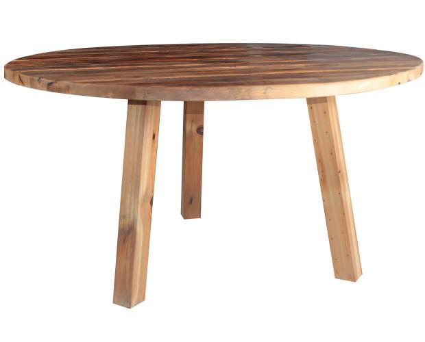 Dixon. Mesa estilo vintage realizada en integramente en madera.