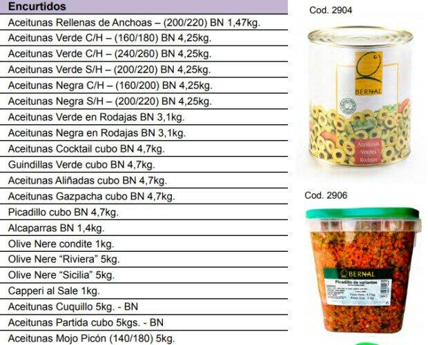 Aceitunas. disponibilidad de variedades de aceitunas, tanto italianas como españolas