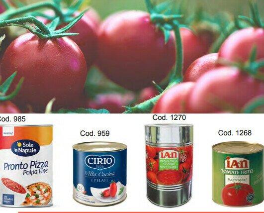 Tomate para pizza. Prueba las mejores marcas de tomates para pizzerías y restaurantes