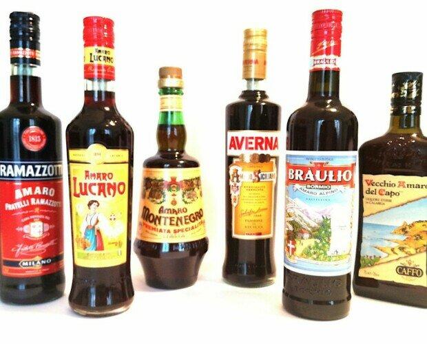 Grappas y licores italianos. Grappas, limoncello y licores italianos