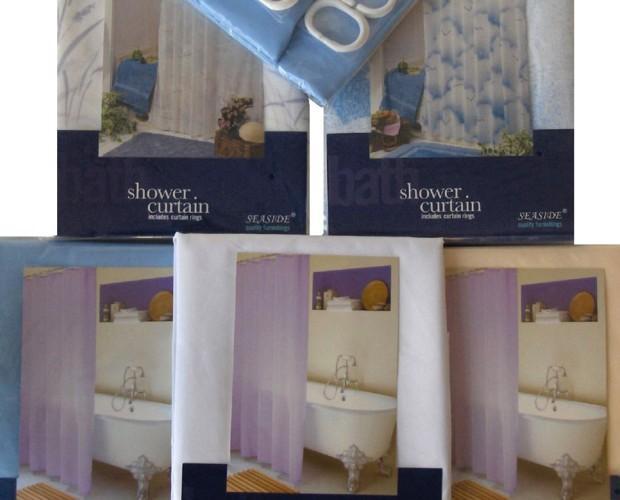 Cortinas para Bares.Cortinas de baño textil con cinta de peso en el bajo, lavable a máquina, incluye anillas, disponible en varios colores y medidas