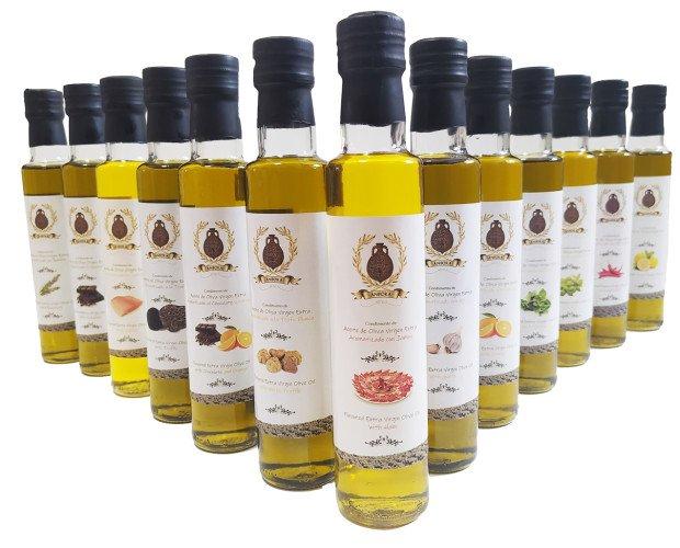 Aceite de Oliva Gourmet.Aceites de Oliva Aromatizados con especias naturales y todo el sabor de nuestro AOVE