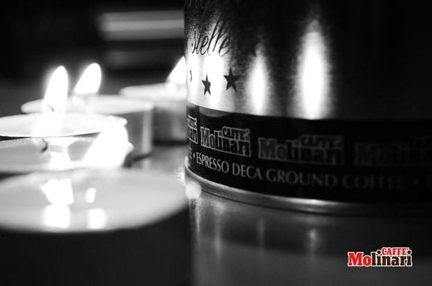 Candles. Velas de caffè Molinari