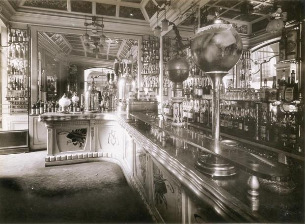 Bar años 60. Otra vista del Caffè Molinari