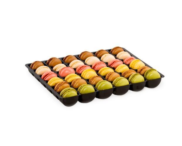 Minis macarons mezclados. Peso: 12 gramos
