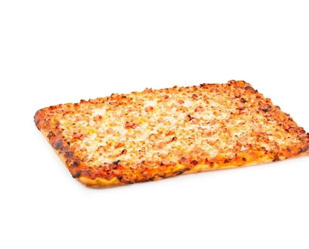 Pizzas congeladas. Pizza de jamón y bacon
