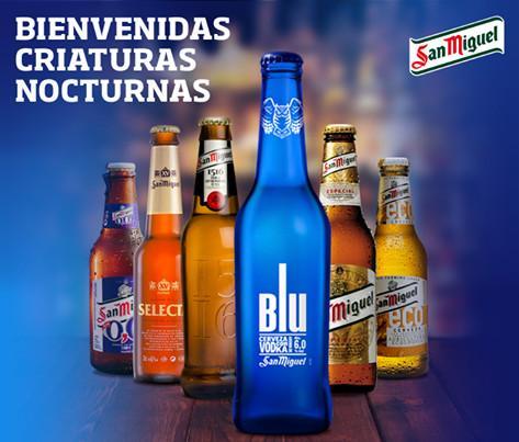 Botellas de Cerveza con Alcohol.Cervezas San Miguel