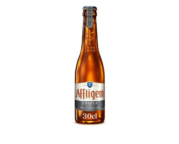 Affligem Triple. Es una cerveza belga rubia, de ligero amargor final