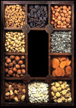 Almendras.Castañas, pistachos, avellanas, etc