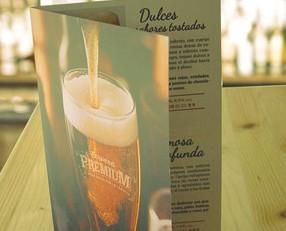 Cerveza artesanas españolas. Carta de cervezas premium para mesas