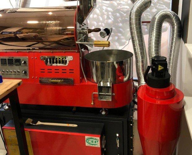 Tostador de cafe. Capacidad 2kg por ciclo. Ciclo 15-20 min. Venta al profesional para cafeterías, restaurantes, tiendas etc.
