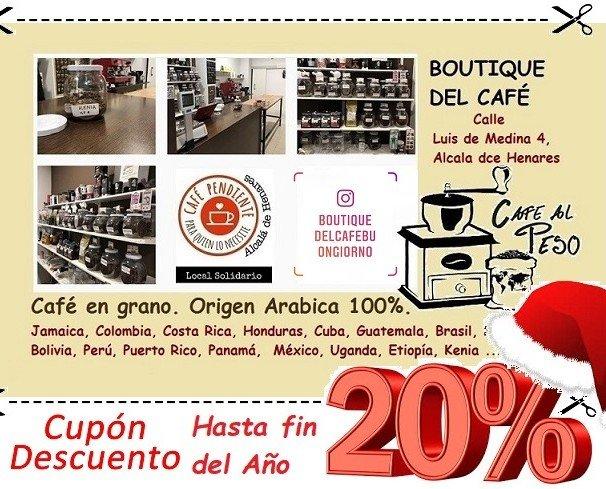 café al peso. 20% descuento. venta en tienda.
