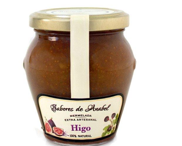 Mermelada de higo. Mermelada de Higo Español, 70% de fruta, sin conservantes.