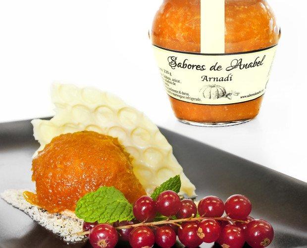Maridaje arnadi. mermelada de calabaza de temporada de Valencia, sin conservantes, sin espesante, sin gluten
