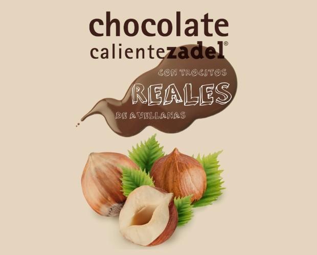 Chocolate a la Taza.Chocolate con avellanas ZADEL