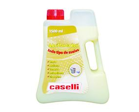 Abrillantador A14. Exento de espuma, especial para aplicación con fregadoras automáticas. Ideal para suelos cristalizados o vitrificados