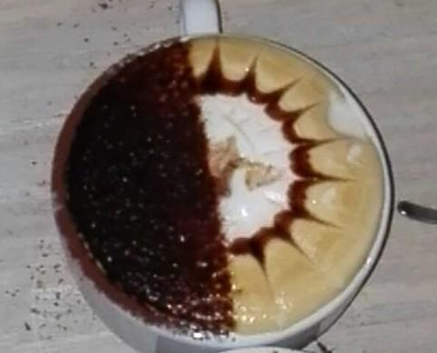 Café Verde.Taza de café