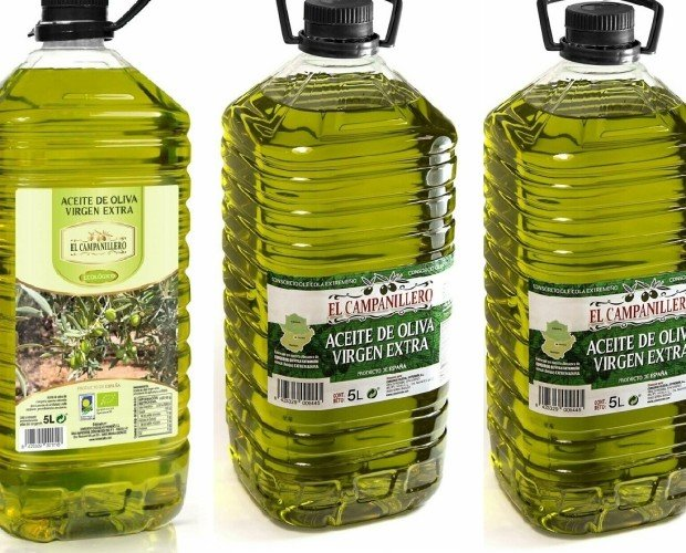 Proveedores de Aceite. Caja de tres garrafas de 5 litros