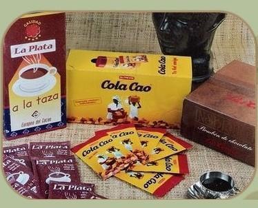 Chocolate a la taza. Chocolate a la taza y Cola Cao