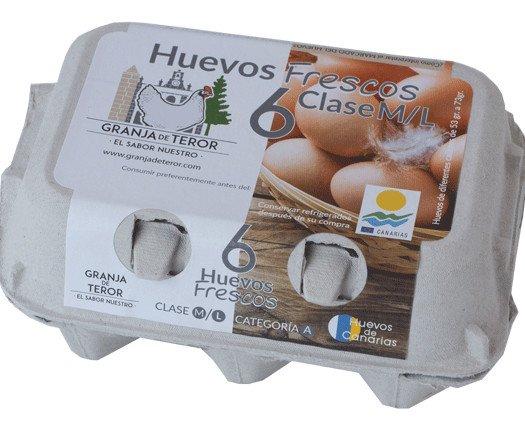 Huevos. Huevos Frescos de Gallina. Huevos de gallinas Talla M/L