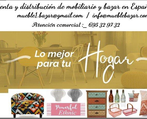 Mobiliario de Exterior.Venta y distribución de mobiliario y bazar en Europa