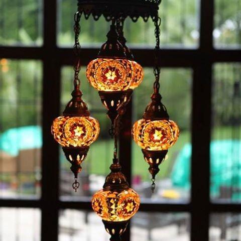 Lámparas turcas. Variedad de modelos