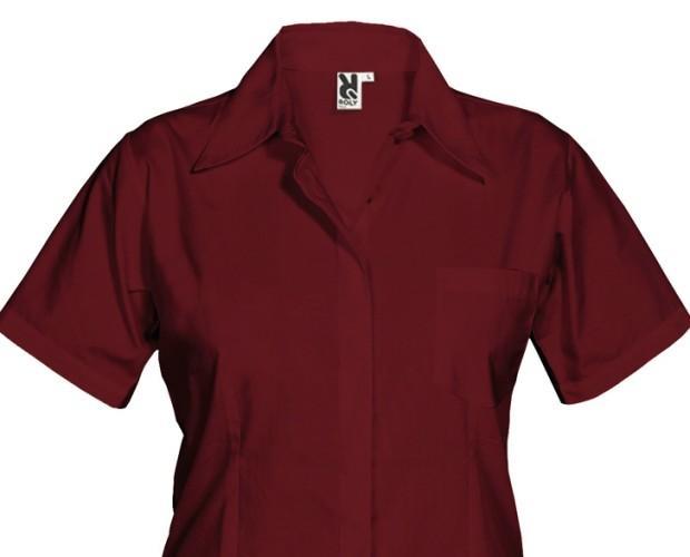 Camisa Sofía. 65 % poliéster / 35 % algodón popelín 130g/m2