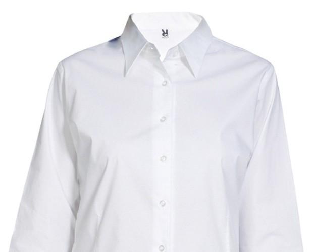 Camisa París. 97 % algodón/ 3 % spandex, popelín, 130 g/m2