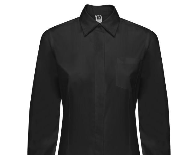 Camisa Sofía m/l. 65 % poliéster / 35 % algodón popelín 130g/m2