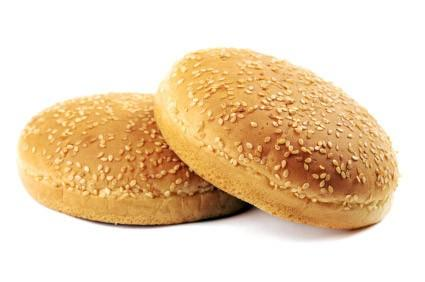 Pan de Hamburguesa. Con semillas de sésamo