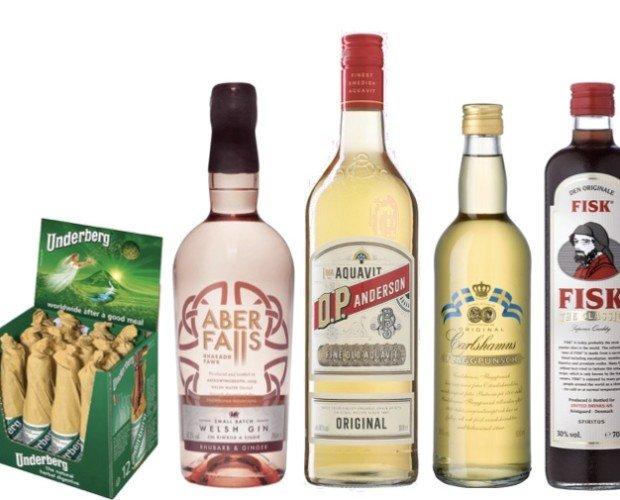 Licores. Aguardiente. Destilados alemanes, británicos, suecos, daneses...