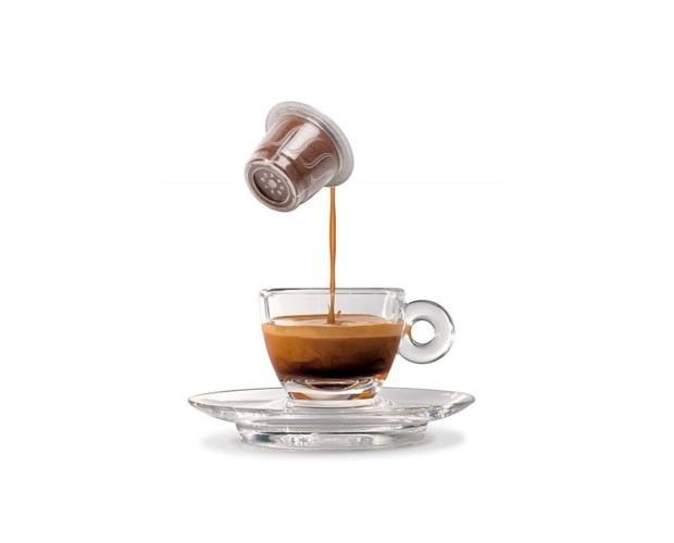 Cápsulas en taza. Cápsulas de cafe Nespresso Balletti