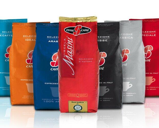 Café Gourmet.Selección Essse, Clásica , Speciale, Arabica, Ideale, y Descafeinado.