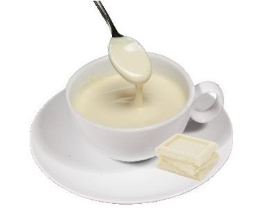 Chocolate blanco a la taza. Muy cremoso y aromático