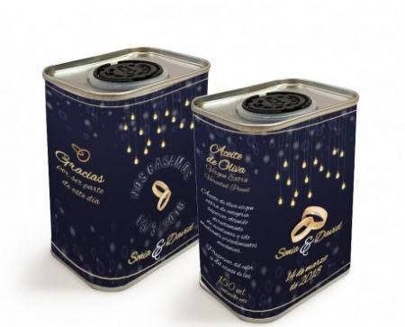 Aceite de Oliva Gourmet.Originales miniaturas en lata personalizadas de aceite de oliva virgen extra