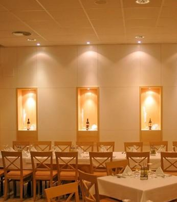 Decoración de restaurante. Restaurante del hotel