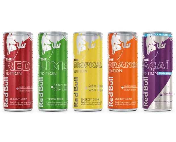 Red Bull Editions. Mismo efecto - distinto sabor.